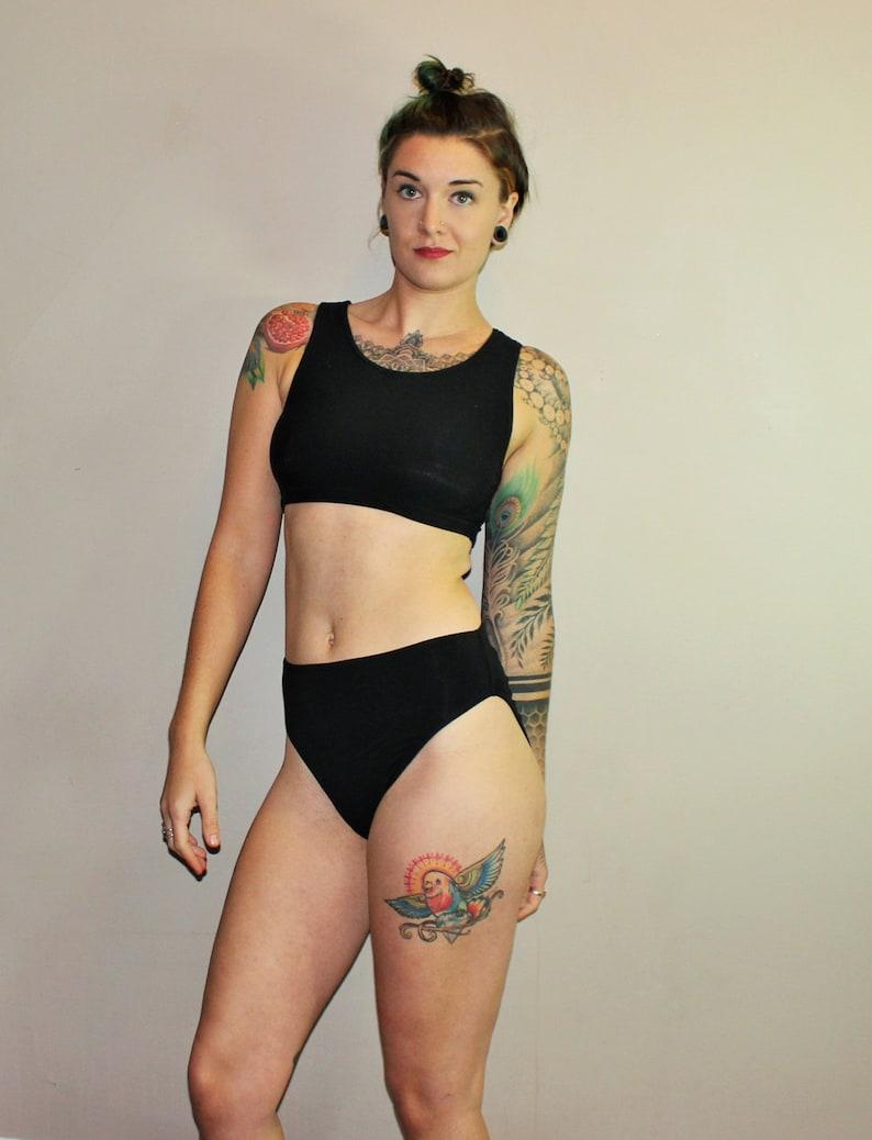 20a55f3ce5 Bamboo French Cut High Waist Underwear  Custom Size   8