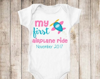My First Airplane Ride Vacation Personalized Plane Shirt