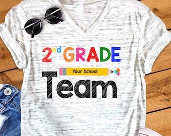 Second Grade Shirt Etsy