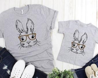 Bunny Lover Gift Kids Bunnymoon Cotton TShirt Kids size Rabbit Shirt Kids Animal Print Shirt Rabbit Clothing