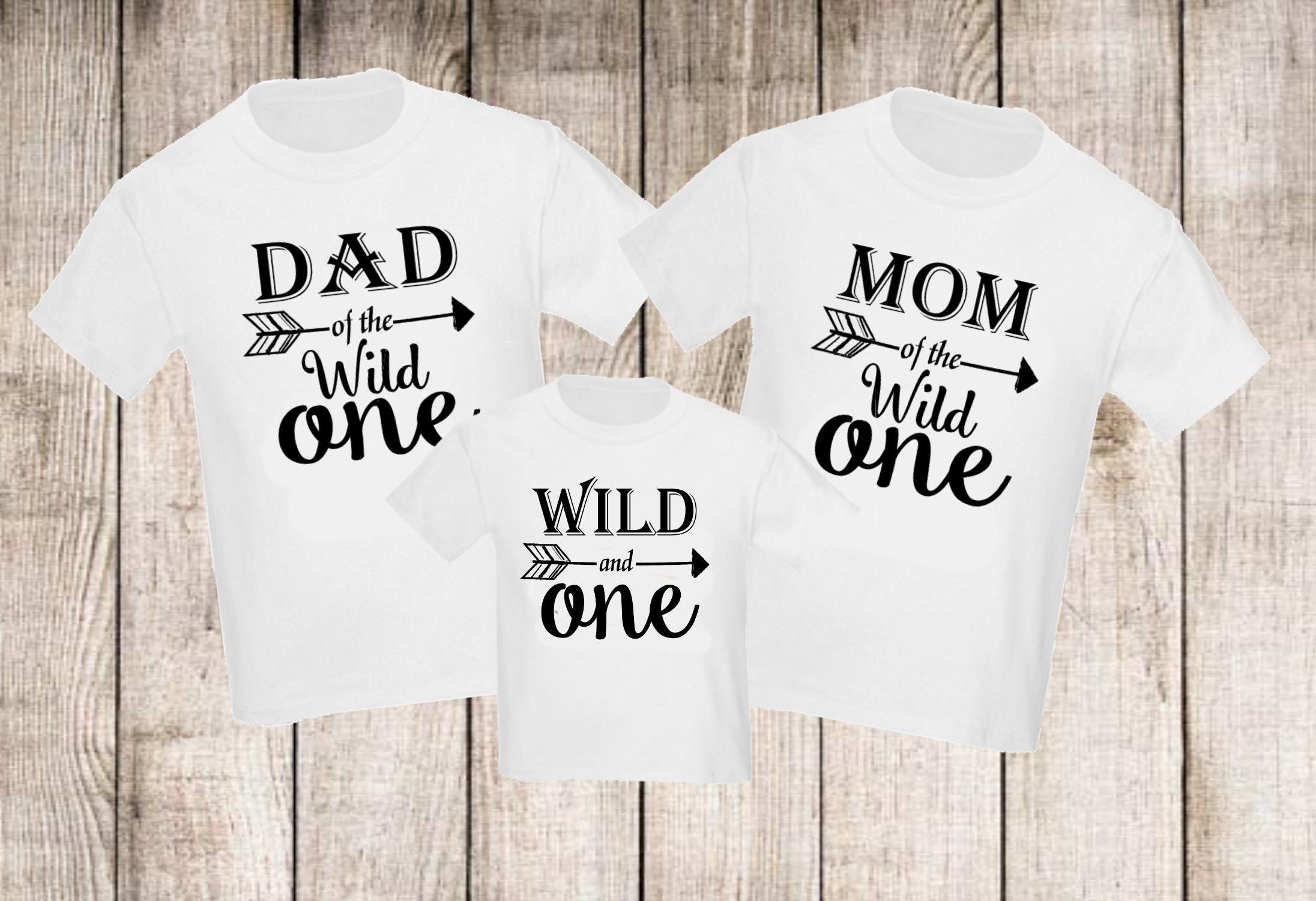 Wild One Arrow Set Of 3 Birthday Family Shirts Set Mom Mommy Etsy