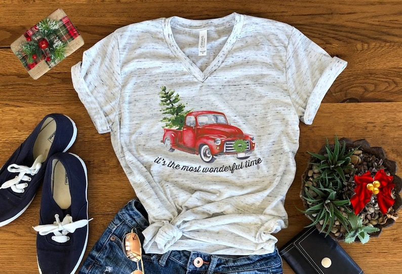Most Wonderful Time Of Year Old Vintage Truck Christmas Tree image 0
