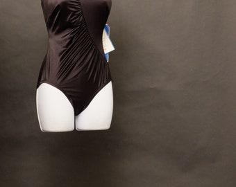 f004c161b Vintage Deadstock 1980s Black Bathing Suit