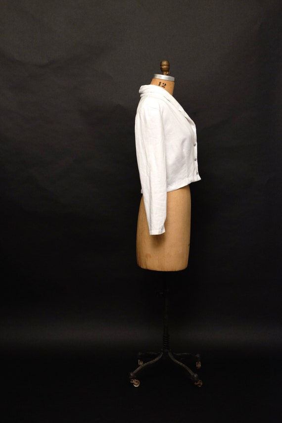 Vintage 1990s Cropped Button Up Sweater Cardigan - image 5