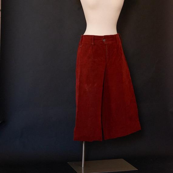 Vintage SIR for Her Velvet Capris Pants