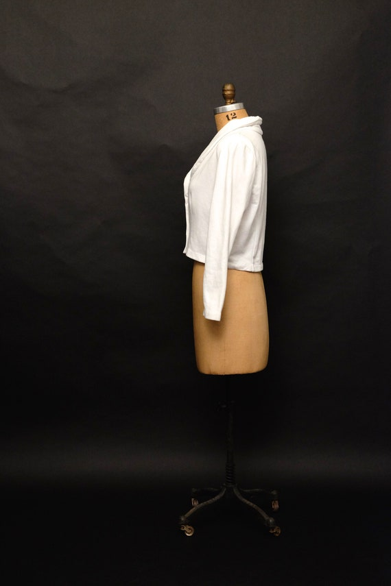 Vintage 1990s Cropped Button Up Sweater Cardigan - image 3