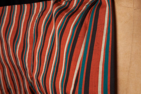 1950s Striped Cotton Homespun Kimono - image 4