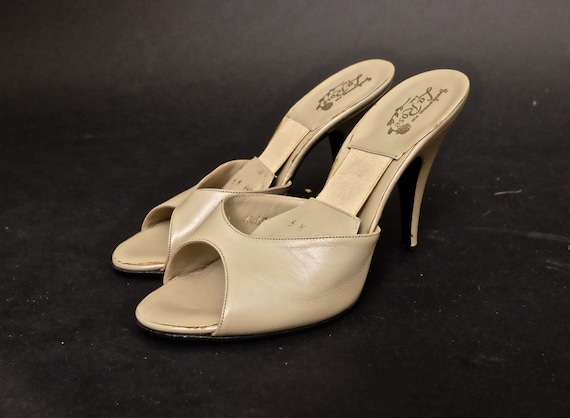 1950s LaRose Gray Springolators Heels