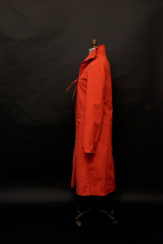 1980s Red Rain Trench Coat - image 5
