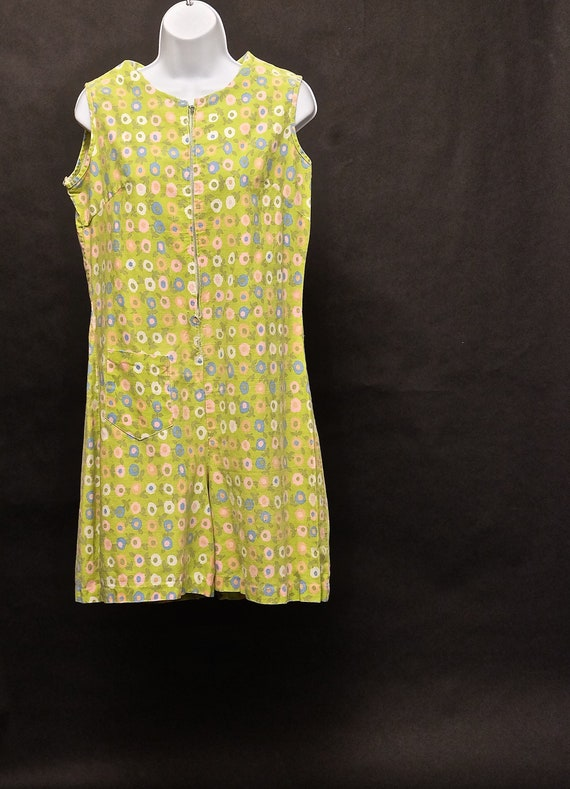 1960s Bright Flowered Romper