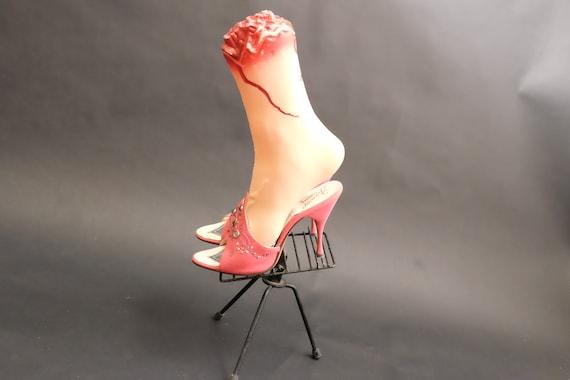 Vintage 1950s Spring-o-lators Heels Shoes Pink Spi - image 3