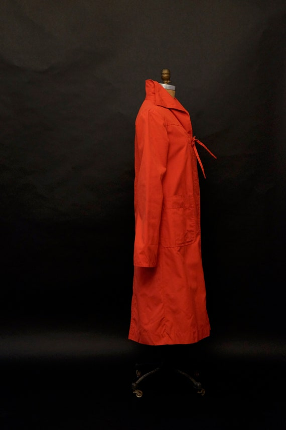 1980s Red Rain Trench Coat - image 7