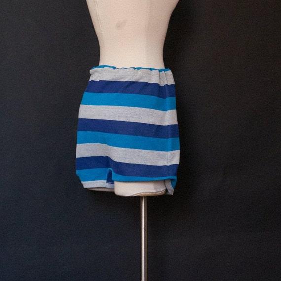 1960s Striped Men's Swim Trunks Bathing Suit