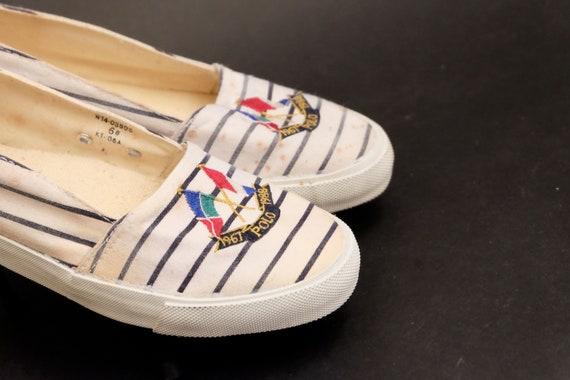 Vintage 1980s Slip on Polo Ralph Lauren Shoes Sne… - image 4