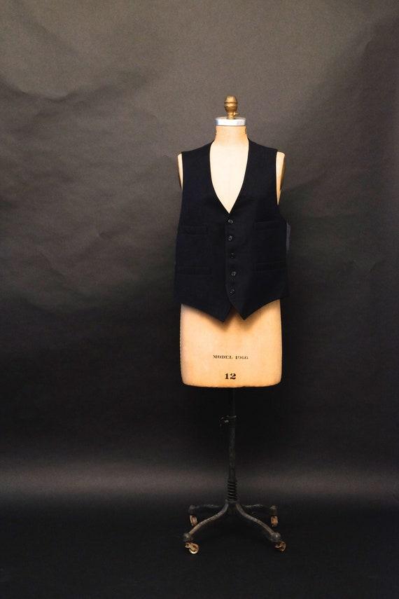 1990s Vintage Dark Blue Vest