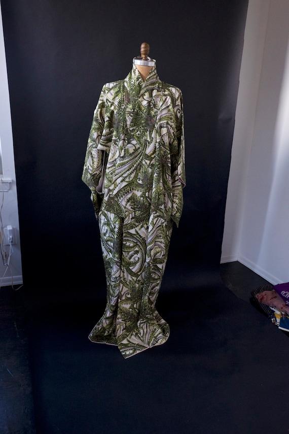 1970s Long Japanese Kimono Robe