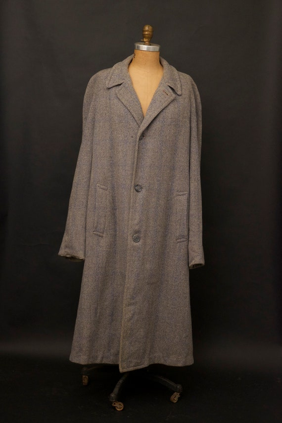 Vintage 1960s Gray Fleck Trench Coat