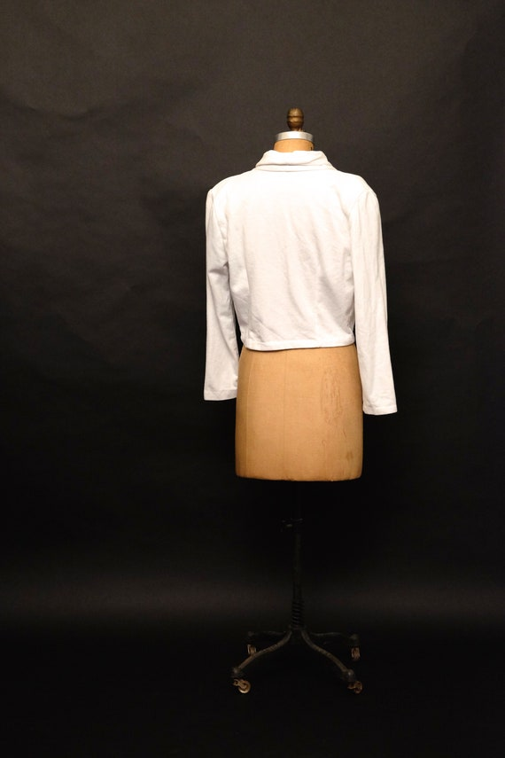 Vintage 1990s Cropped Button Up Sweater Cardigan - image 4