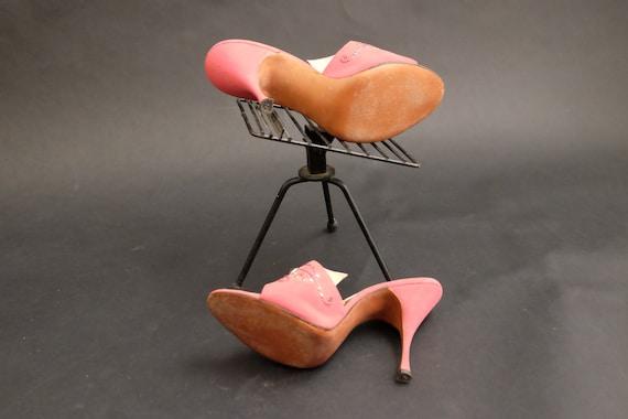 Vintage 1950s Spring-o-lators Heels Shoes Pink Spi - image 10