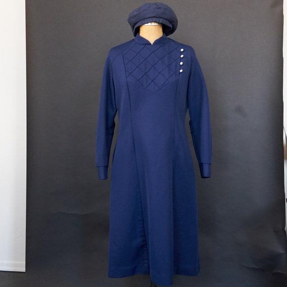 Vintage 1960s Hopkins Public Health Uniform Dress