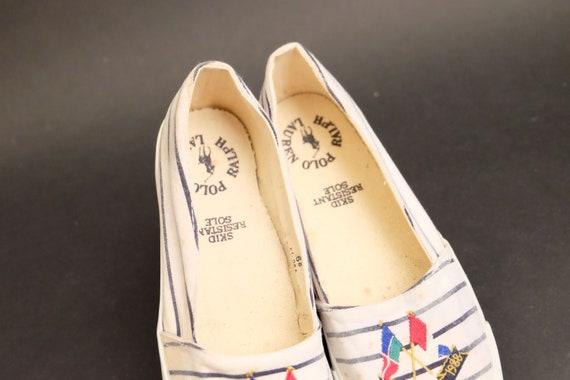 Vintage 1980s Slip on Polo Ralph Lauren Shoes Sne… - image 6