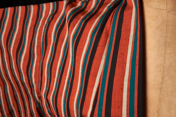 1950s Striped Cotton Homespun Kimono - image 2