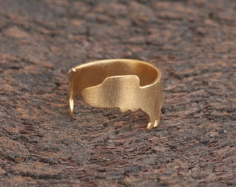 Dachshund Ring, Gold Sausage Dog Ring, Dachshund Jewelry, Adjustable Gold Plated Dog Ring, Dachshund Owners Gift, Dog Jewelry for Women