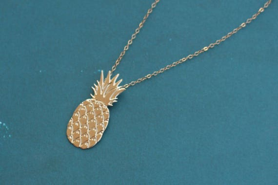 Silver pineapple everyday necklace pineapple necklace tiny pineapple necklace fruit necklace minimalist geometric pineapple jewelry