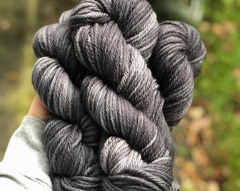 Bulky Yarn 3-Ply Merino — Colorway: Soot