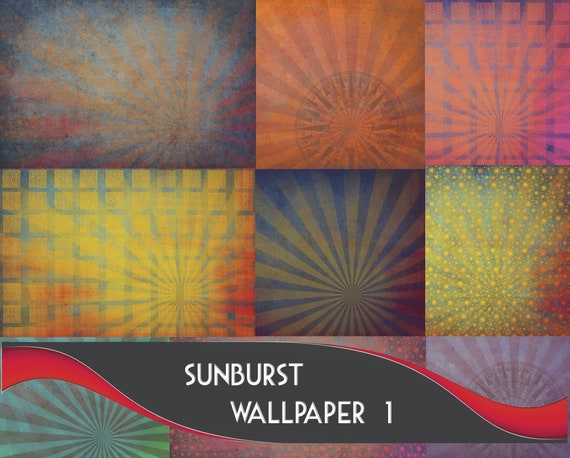 14 High Resolution Sunburst Wallpapers Graphic Backgrounds Commercial Use Included Digital Paper Mobile Wallpaper Star Background