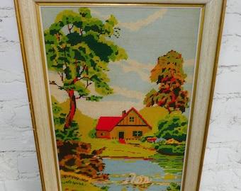 Bild Gemälde 70u0027s Interior Design Stickerei Embroidery Sitckbild Stickerei  Wanddesign Wandschmuck Ethical Design Vintage Karmafree Slow