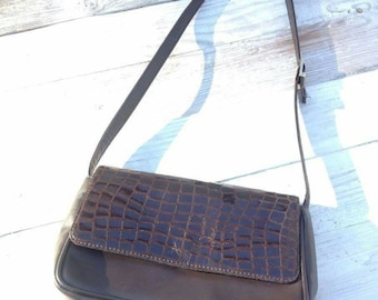 75d3e503c Handtasche crossbody bag vintage Umhängetasche art and crafts retro  french-style brown