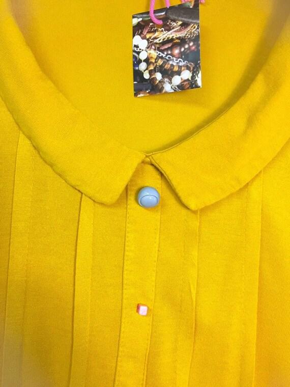 letzte Veröffentlichung anders großer Rabatt Shirt Top Bluse Tunika senfgelb Knöpfe bunt rosa ethicalfashion slowfashion  ecofashion Secondhand Frauen boheme