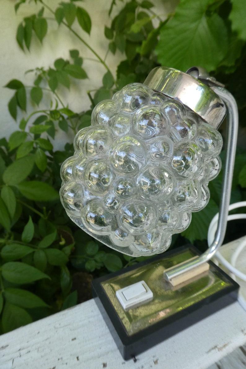 Nachttischlampen Lampe Mid Century 60 S Designer Vintage Antik Ethical Design And Crafts Glas Silber Interiordesign Slowdesign Ecodesign