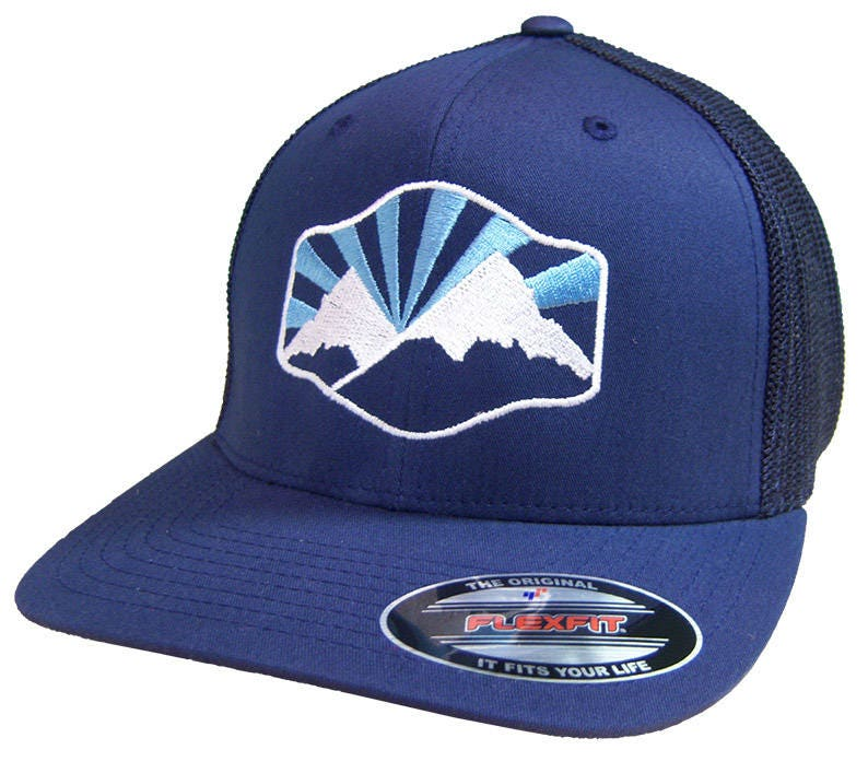 Idaho Mountain Flex-Fit Mesh Back Hat BANANA ink