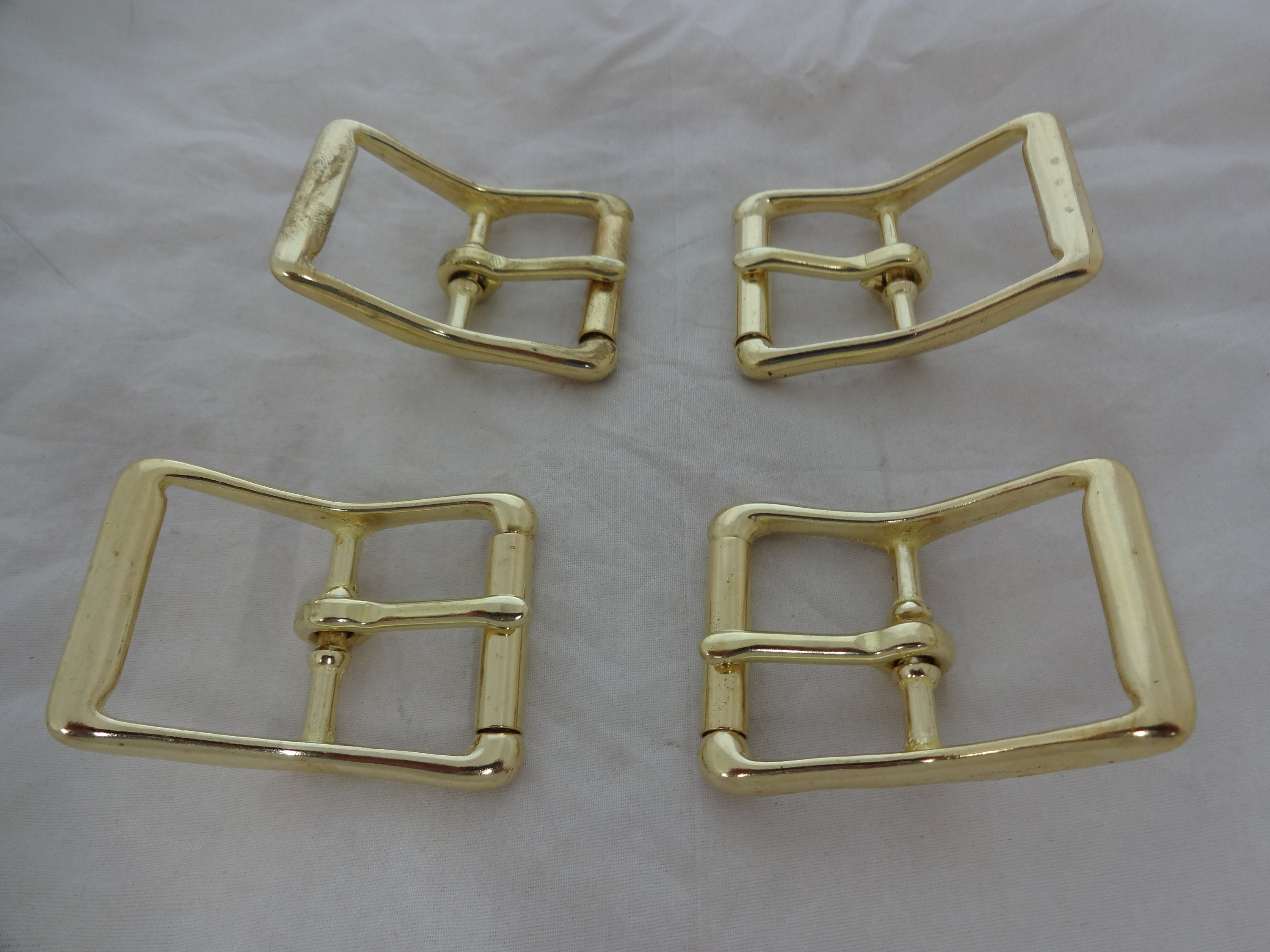 """Pair Solid Brass Roller Buckles 1 1//2/"""" Western Horse Hardware Tack Belt Leather"""