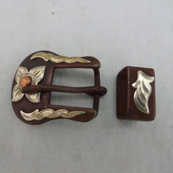 "WESTERN HORSE SADDLE HEADSTALL ANTIQUE ENGRAVED BELT BUCKLE SET FITS 3//4/"" BELT"
