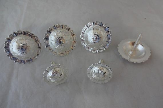 """Paire gravé laiton El Paso Pico Conchos Bride Boucles 1 1//2/"""" Hansen Western Gear"""