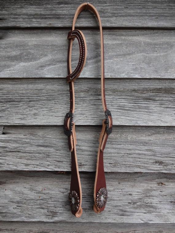 Saddle Bronc Berry Buckles Conchos West Coast Tack Black 58 Hermann Oak Harness Leather Slip One Ear Headstall Hansen Western Gear Horse