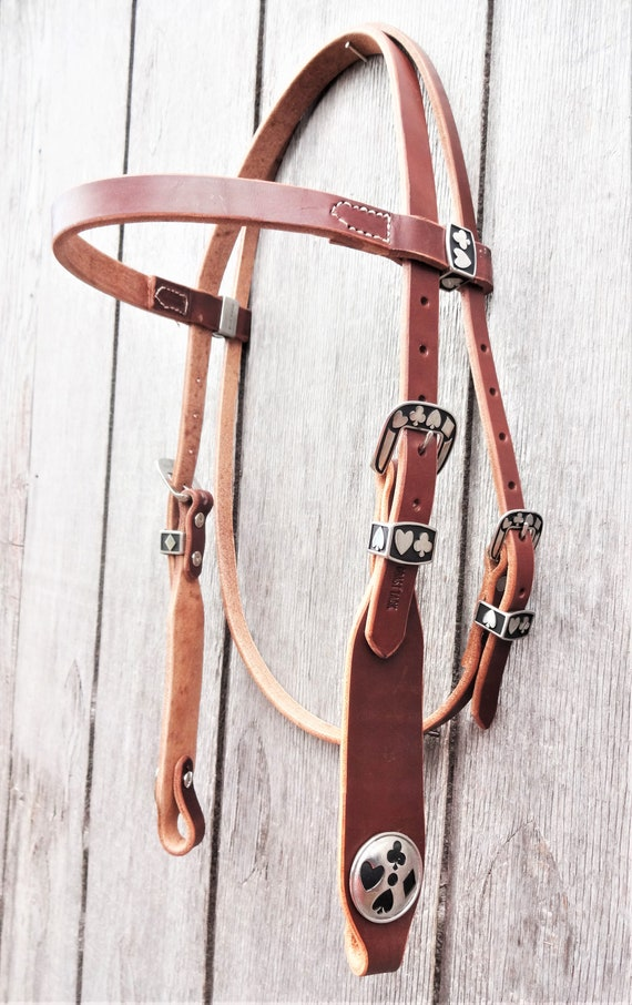 West Coast Tack Rich Brown Harness Leather Western Spur Straps Adult Cowpuncher Jeremiah Watt Visalia Buckles Horse