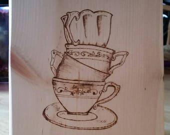 Tea Time Teacup Sign