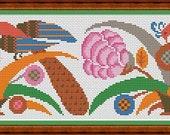 Repeating Antique Decorative Motif Borders 1, 2, 3 Cross Stitch PDF Patterns