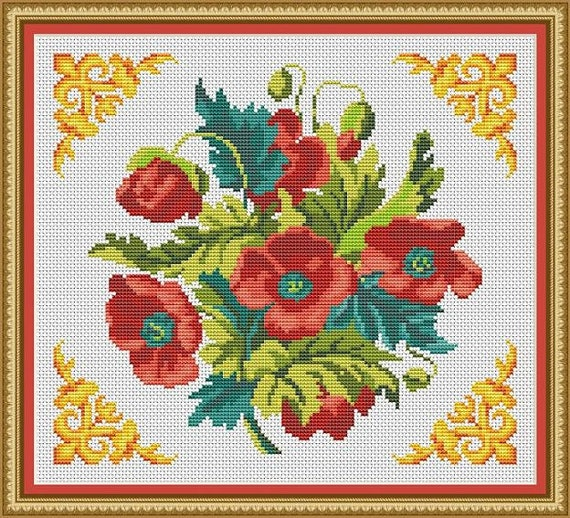 PINK ORCHID~counted cross stitch pattern #298~FLOWERS Floral Garden Nature Chart