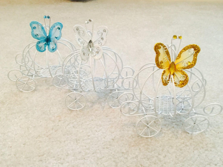 IN STOCK! Cinderella Princess white metal carriage decor for girl ...