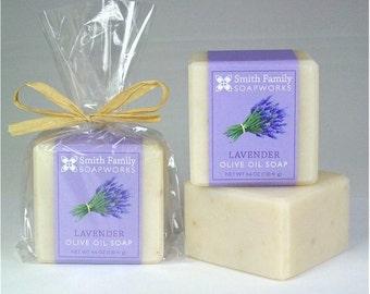 Sapone di lavanda sapone - sapone naturale, sapone fatto a mano, barra di sapone olio d'oliva, processo a freddo