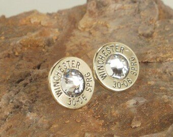 30-06 Bullet  Earrings  - Deer Hunter Earrings - Ultra Thin - Winchester 30-06 - PICK A COLOR