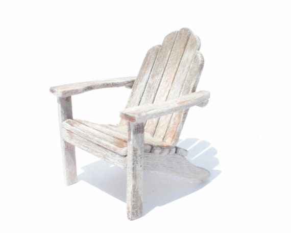 1:24 Scale Dollhouse Miniature Adirondack Chair Set Kit