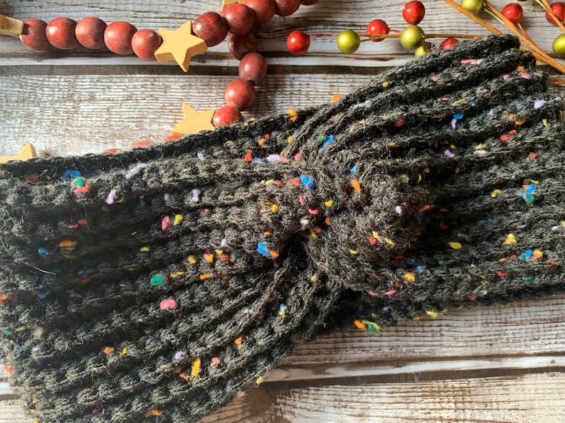 gifts for her Crochet Ear warmer Crochet Knotted Earwarmer knotted earwarmer