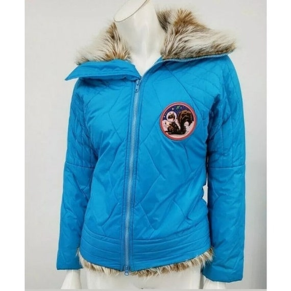 Vintage 90s Wild and Lethal Trash Turquoise Puffer