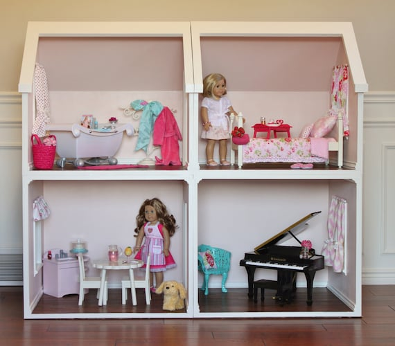 Doll House Plans For American Girl Or 18 Inch Dolls One Room Etsy